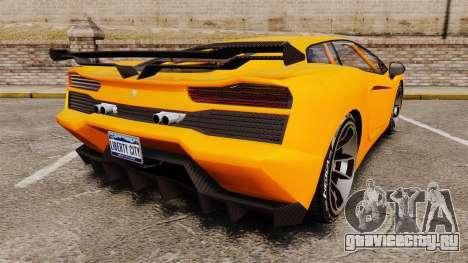 GTA V Pagassi Vacca для GTA 4 вид сзади слева
