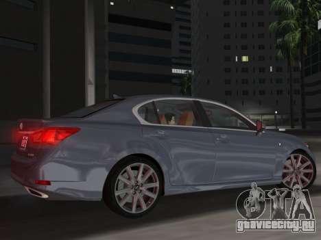 Lexus GS350 F Sport 2013 для GTA Vice City вид сбоку