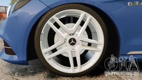 Mercedes-Benz E63 AMG 2014 для GTA 4 вид сзади
