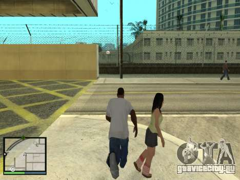 GTA 5 HUD v2 для GTA San Andreas пятый скриншот