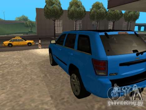 Jeep Grand Cherokee SRT8 Restyling M для GTA San Andreas вид сзади слева