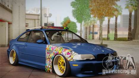 BMW M3 E46 Hellaflush для GTA San Andreas