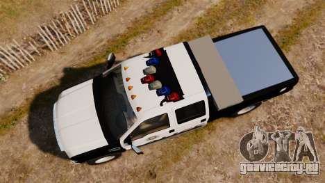 Ford F-250 Super Duty Police [ELS] для GTA 4 вид справа