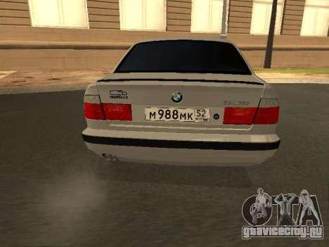 BMW 525 Smotra для GTA San Andreas вид сзади слева