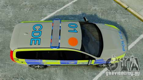 Volvo V70 Metropolitan Police [ELS] для GTA 4 вид справа