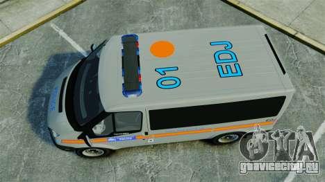 Ford Transit Metropolitan Police [ELS] для GTA 4 вид справа