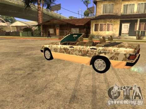 Mercedes-Benz 190E Army для GTA San Andreas вид сзади