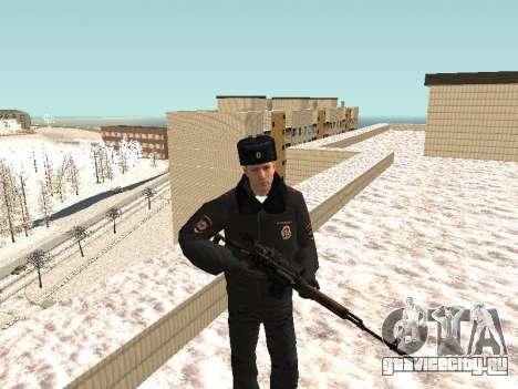 Пак милиционеров в зимней форме для GTA San Andreas седьмой скриншот