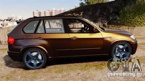 BMW X5M v2.0 для GTA 4 вид слева