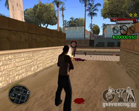 C-HUD by Santoro для GTA San Andreas третий скриншот