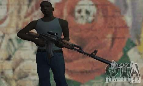 AK-47 Silencer для GTA San Andreas третий скриншот