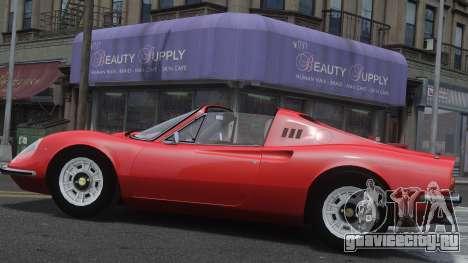 Ferrari Dino 246 GTS для GTA 4 вид слева