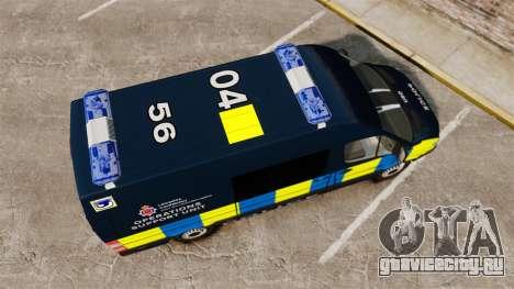 Mercedes-Benz Sprinter Police [ELS] для GTA 4 вид справа