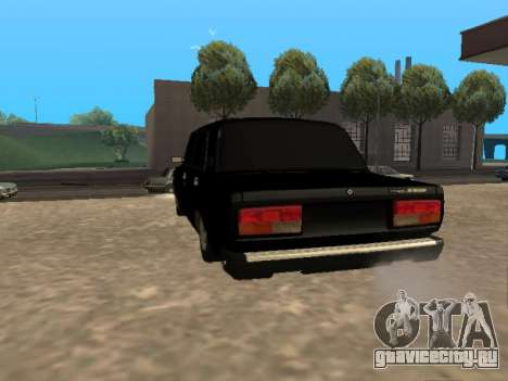 Ваз 2107 v1.2 Final для GTA San Andreas вид сзади слева