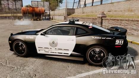 Chevrolet Camaro Police [ELS-EPM] для GTA 4 вид слева