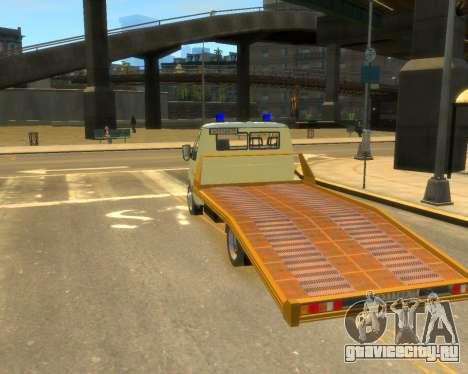 Газель Эвакуатор ДПС для GTA 4 вид слева