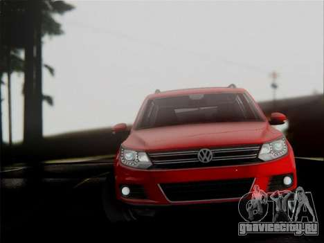 Volkswagen Tiguan 2012 для GTA San Andreas вид изнутри