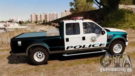 Ford F-250 Super Duty Police [ELS] для GTA 4 вид слева