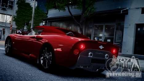Spyker C8 Aileron Spyder v2.0 для GTA 4 вид сзади
