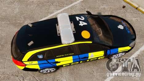Vauxhall Insignia Sports Tourer Police [ELS] для GTA 4 вид справа