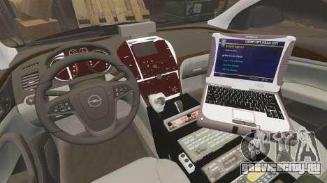 Vauxhall Insignia Sports Tourer Police [ELS] для GTA 4 вид сзади