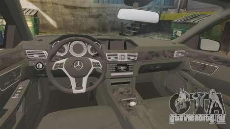 Mercedes-Benz E63 AMG 2014 для GTA 4 вид изнутри