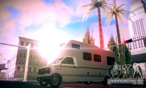 GTA V Camper для GTA San Andreas вид сзади слева