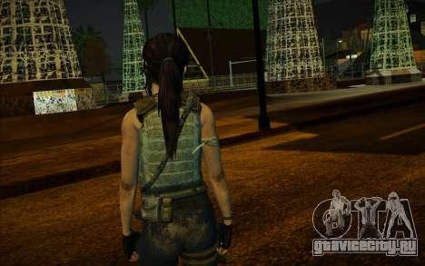 Tomb Raider Lara Croft Guerilla Outfit для GTA San Andreas третий скриншот