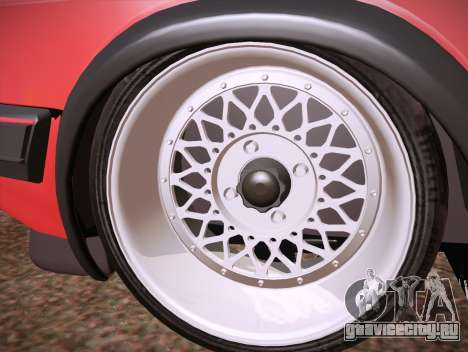 Volkswagen Golf Mk2 для GTA San Andreas вид изнутри