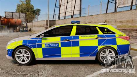Hyundai i40 2013 Metropolitan Police [ELS] для GTA 4 вид слева