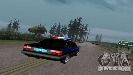 Audi 100 Полиция ОБЭП для GTA San Andreas вид справа