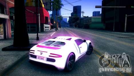 Adder из GTA V для GTA San Andreas вид сзади слева