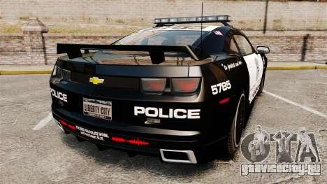 Chevrolet Camaro Police [ELS-EPM] для GTA 4 вид сзади слева