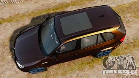 BMW X5M v2.0 для GTA 4 вид справа