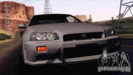 Nissan Skyline GT-R R34 V-Spec Lexani Rims для GTA San Andreas