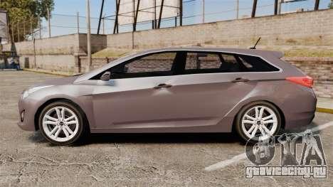 Hyundai i40 2013 Unmarked Police [ELS] для GTA 4 вид слева