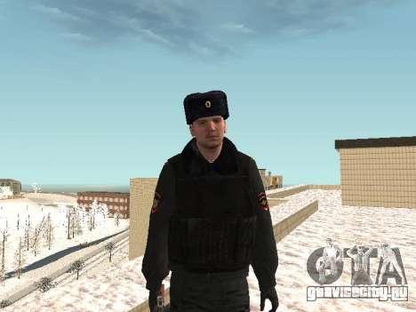Пак милиционеров в зимней форме для GTA San Andreas девятый скриншот