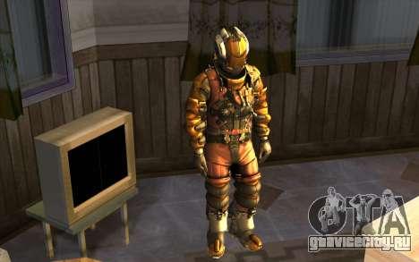 Isaac Clark in E.V.A Suit для GTA San Andreas второй скриншот