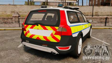 Volvo XC70 Emergency Response Unit [ELS] для GTA 4 вид сзади слева