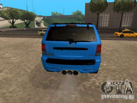 Jeep Grand Cherokee SRT8 Restyling M для GTA San Andreas вид справа