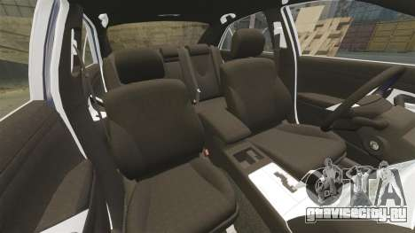 Toyota Camry для GTA 4 вид снизу