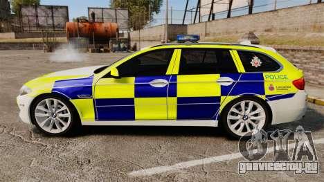 BMW 530d Touring Lancashire Police [ELS] для GTA 4 вид слева