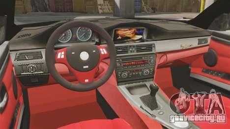 BMW M3 E92 AC Schnitzer ACS3-Sport v2.0 для GTA 4 вид изнутри