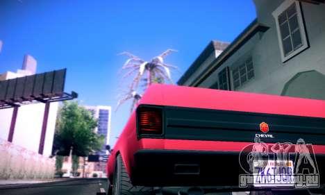 GTA V Picador для GTA San Andreas вид сзади слева