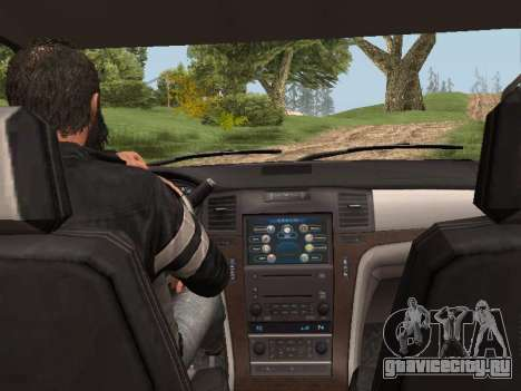Cadillac Escalade 2010 для GTA San Andreas вид сзади слева