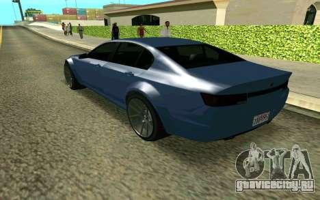 GTA V Fugitive для GTA San Andreas вид слева