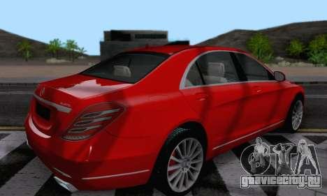 Mercedes-Benz W222 для GTA San Andreas вид сзади