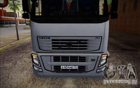 Volvo FH16 440 для GTA San Andreas вид изнутри
