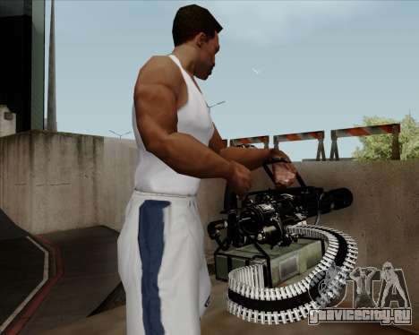 Renegades Minigun Black для GTA San Andreas четвёртый скриншот