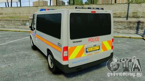 Ford Transit Metropolitan Police [ELS] для GTA 4 вид сзади слева
